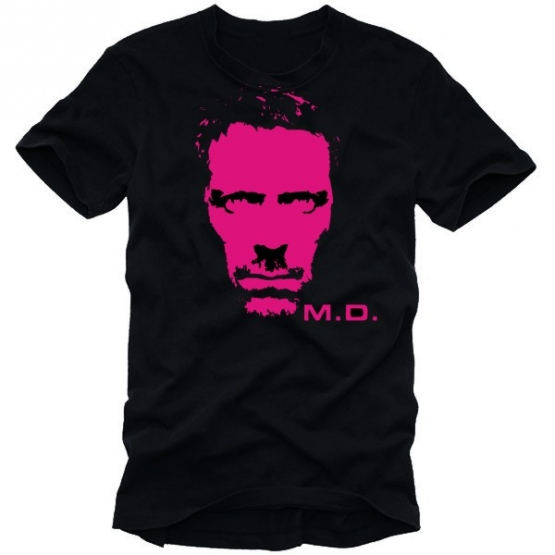 dr house t shirt schwarz pink coole fun t shirts. Black Bedroom Furniture Sets. Home Design Ideas