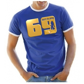 69 born to pimp - T-SHIRT - Druck in Gold - RINGER