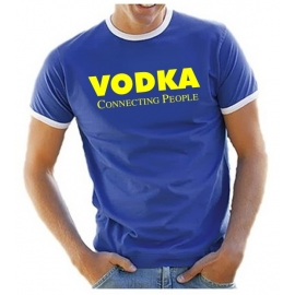 VODKA connection people RINGER T-SHIRT