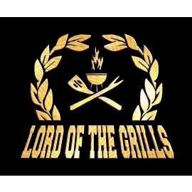 LORD of the GRILLS - T-SHIRT - BBQ - GRILL and CHILL -