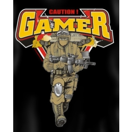 CAUTION GAMER ! T-SHIRT S M L XL XXL