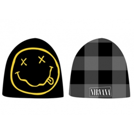 Nirvana Beanie Black Reversible - Kurt Cobain