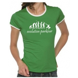 Parkour evolution Girly Ringer  T-SHIRT S M L XL XXL XXXL
