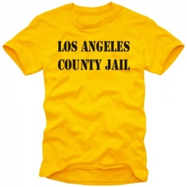 L.A. county jail TSHIRT LOS ANGELES orange KNAST T-SHIRT