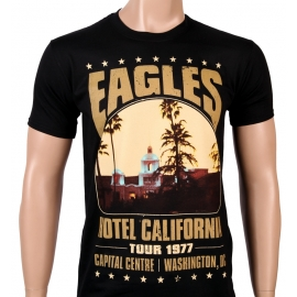 EAGLES - Hotel California - Tour 1977 - NEU - T-shirt Schwarz -