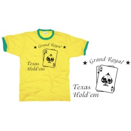 Poker t-shirt TEXAS HOLDE'M brazil Grand Ringer T-Shirt