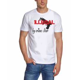 ILLEGAL by CRIMESTAR  t-shirt weiss S M L XL XXL XXXL