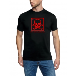 VERY TOXIC SUBSTANCE tshirt BLACK S M L XL XXL XXXL