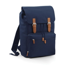 Vintage Laptop & Tablett Backpack Rucksack Navy, Schwarz
