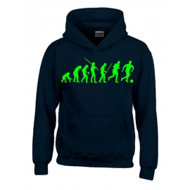 FUSSBALL Evolution Kinder Sweatshirt mit Kapuze HOODIE Kids Gr.1