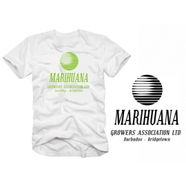 Marihuana Growers Association BARBADOS  weiss  t-shirt