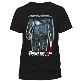 FRIDAY 13TH MOVIE SHEET ! ORIGINAL T-Shirt schwarz Grössen S M L XL 2XL Freitag der 13.