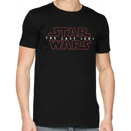 STAR WARS 8 THE LAST JEDI LOGO ORIGINAL Schwarz Grössen S M L XL 2XL