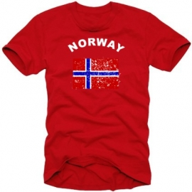 Norwegen VINTAGE t-shirt NORWAY ROT