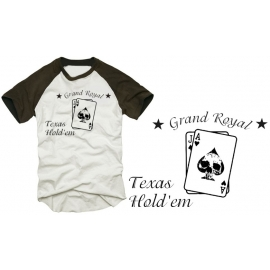 Poker Shirt TEXAS HOLD'EM Totenkopf  T-SHIRT