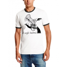 Ill eagle business ringer t-shirt weiss