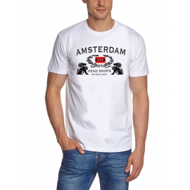 AMSTERDAM T-Shirt Head Shop t-shirt weiss S - XXXL