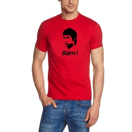 Bäm T-Shirt BÄM in your face Bruce Lee t-shirt WEISS BIS XXXL
