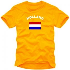 HOLLAND T-SHIRT NIEDERLANDE ORANGE