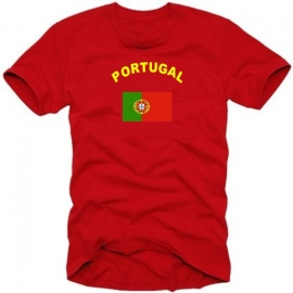 PORTUGAL T-SHIRT ROT S M L XL XXL SHIRT