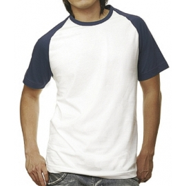 BASEBALL T-SHIRT WEISS/NAVY